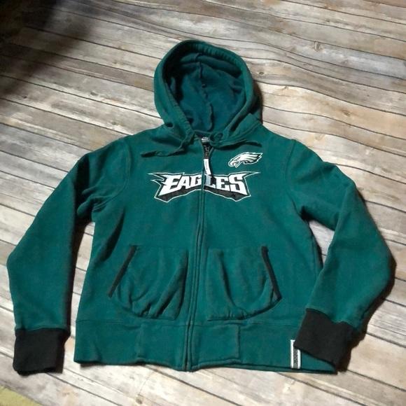 finest selection 58021 14331 Philadelphia Eagles Zip Up hooded Hoodie